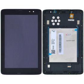 Модуль (дисплей + тачскрин) для Lenovo IdeaTab A8-50 (A5500) черный с рамкой