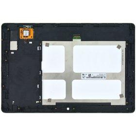 Модуль (дисплей + тачскрин) для Lenovo IdeaTab A10-70 (A7600) черный с рамкой