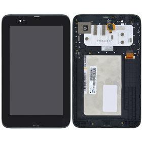 Модуль (дисплей + тачскрин) для Lenovo IdeaTab A7-30 (A3300-HV) черный с рамкой