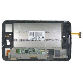 Модуль (дисплей + тачскрин) для Samsung Galaxy Tab 3 7.0 SM-T210 Wi-Fi, Bluetooth белый с рамкой (Без отверстия под динамик)