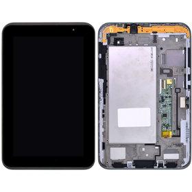 Модуль (дисплей + тачскрин) для Samsung Galaxy Tab 2 7.0 P3110 (GT-P3110) Wi-Fi черный с рамкой