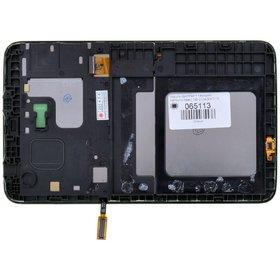 Модуль (дисплей + тачскрин) для Samsung Galaxy Tab 3 7.0 Lite SM-T110 (WIFI) черный с рамкой (Без отверстия под динамик)
