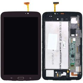 Модуль (дисплей + тачскрин) для Samsung Galaxy Tab 3 7.0 SM-T210 Wi-Fi, Bluetooth коричневый с рамкой (Без отверстия под динамик)