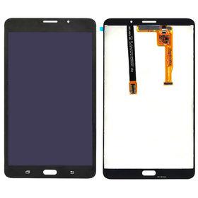 Модуль (дисплей + тачскрин) Samsung Galaxy Tab A 7.0 SM-T285 черный (С отверстием под динамик)