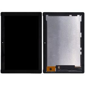 Модуль (дисплей + тачскрин) для черный BE-AS010102-V1 (желтая плата)