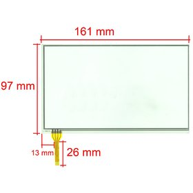 "Тачскрин 7.0"" 4 pin (97x161mm) A2286E-G"