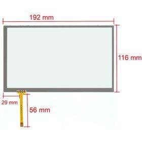 """Тачскрин 8.0"""" 4 pin (117x193mm) 175A1-0819A"""