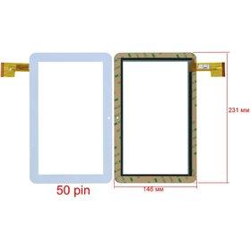 """Тачскрин 9.0"""" 50 pin (146x231mm) TPC0235 Ver2.0 белый"""