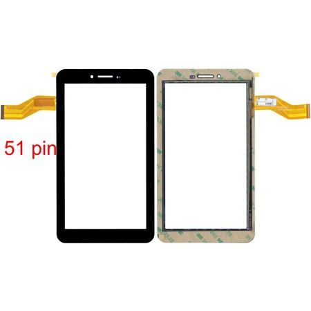 """Тачскрин 7.0"""" 51 pin (105x186mm) 04-0700-0866 V1 черный (С отверстием под динамик)"""