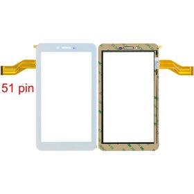 """Тачскрин 7.0"""" 51 pin (105x186mm) 04-0700-0866 V1 белый (С отверстием под динамик)"""