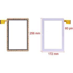 """Тачскрин 10.1"""" 60 pin (172x256mm) TPC0323 VER1.0 белый"""