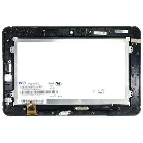 Модуль (дисплей + тачскрин) для Viewsonic ViewPad 10s черный с рамкой