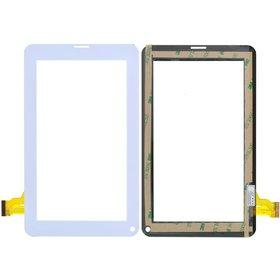 """FPC-TP070129(86VS) Тачскрин 7.0"""" 30 pin (111x186mm) белый (С отверстием под динамик) (Проверен!)"""