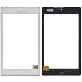 """Тачскрин 8.0"""" 6 pin MIPI (122x212mm) FPC.0800-0363-D белый с рамкой под 3G (С отверстием под динамик)"""