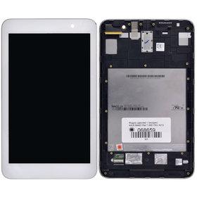 Модуль (дисплей + тачскрин) для ASUS MeMO Pad 7 (ME176C) K013 белый с рамкой