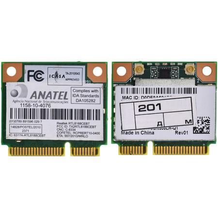 Модуль связи Wi-Fi 802.11b/g/n Half Mini PCI-E - FCC ID: TX2RTL8188CEBT