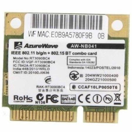 Модуль связи Wi-Fi 802.11b/g/n Half Mini PCI-E - Ralink RT3090BC4
