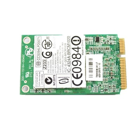 Модуль связи Wi-Fi 802.11b/g Mini PCI-E - FCC ID: QDS-BRCM1020