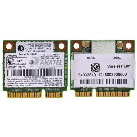 Модуль связи Wi-Fi 802.11a/b/g/n Half Mini PCI-E - FCC ID: PPD-AR5B22