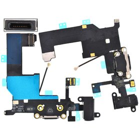 Шлейф / плата Apple Iphone 5 821-1417-08 на системный разъем / черный