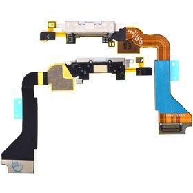 Шлейф / плата Apple Iphone 4 / 821-1093-A на системный разъём белый (оригинал)