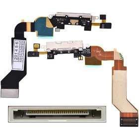 Шлейф / плата Apple Iphone 4S 821-1903-A на системный разъем / белый