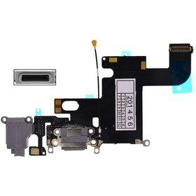 Шлейф / плата Apple iPhone 6 821-1853-A на системный разъем / серый