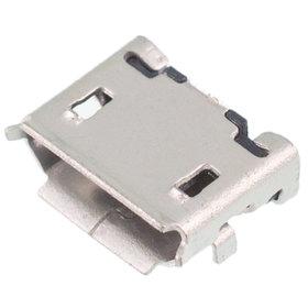 Разъем micro USB 5pin 2 ноги перед внутри в плату с краями контакты вниз (1 застежка) - U009