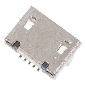 Разъем micro USB 5pin 2 ноги перед в край в плату ровное контакты вниз (1 застежка) - U025