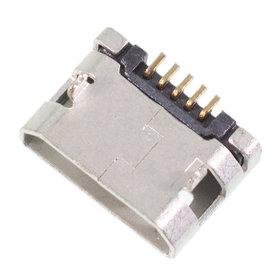 Разъем micro USB 5pin 2 ноги + 2 пластик. перед внутри в плату ровное контакты вниз (1 застежка) - U054