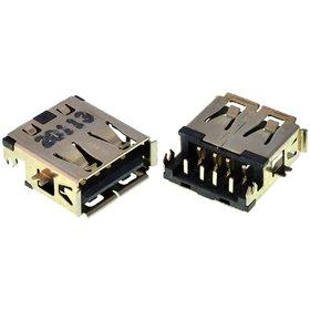 Разъем USB 2.0 / по середине / 14 x10mm / прямой / юбка / Lenovo B560 (004)