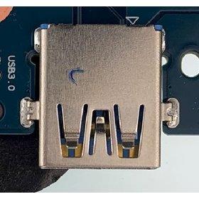 Разъем USB 2.0 / по середине / 16 x14mm / обратный / юбка / Sony