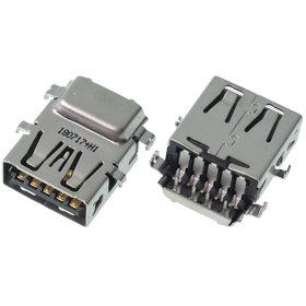 Разъем USB 3.0 / ниже середины / 16 x13mm / прямой / без юбки / черный Acer Aspire V5-551