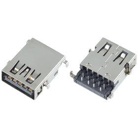 Разъем USB 3.0 / по середине / 17 x13mm / прямой / без юбки / черный HP Pavilion g6-2000
