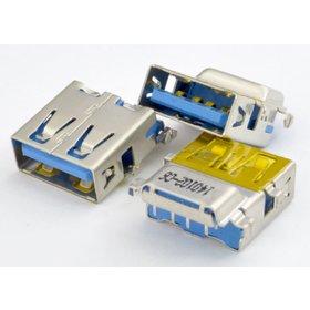 Разъем USB 3.0 / ниже середины / 16 x13mm / прямой / без юбки / голубой Lenovo G780