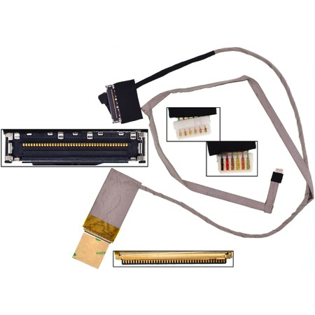 Шлейф матрицы Asus A43 / DC02001AU10