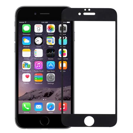 Защитное стекло для Apple iPhone 6 черное П/П 4D
