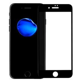 Защитное стекло Apple iPhone 7 черное П/П 4D