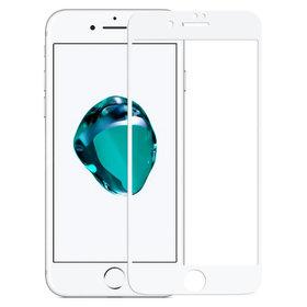 Защитное стекло - Apple iPhone 7 белое П/П 4D
