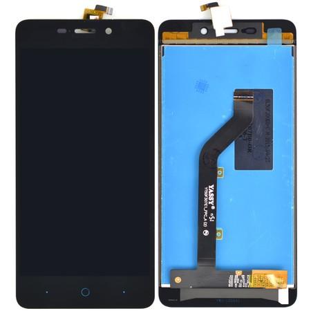 Модуль (дисплей + тачскрин) черный для ZTE Blade X3 (T620)