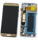 Модуль (дисплей + тачскрин) для Samsung Galaxy S7 edge (SM-G935FD) золото с рамкой (оригинал)
