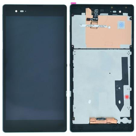 Модуль (дисплей + тачскрин) для Sony Xperia T2 Ultra (D5303) черный