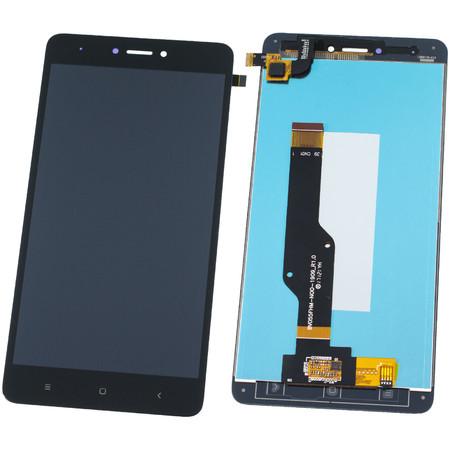 Модуль (дисплей + тачскрин) для Xiaomi Redmi Note 4X черный