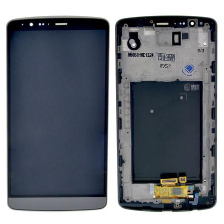 Модуль (дисплей + тачскрин) серый для LG G3 Dual LTE D858
