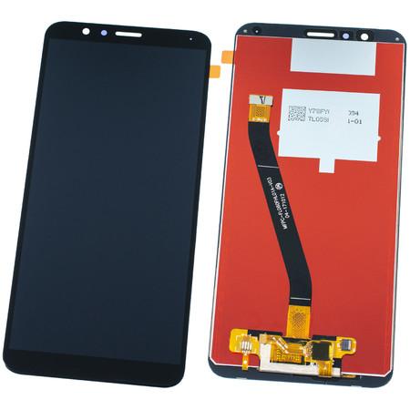 Модуль (дисплей + тачскрин) для Honor 7X (BND-L21) черный (лого Honor)