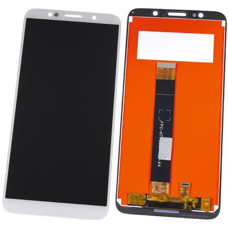 Модуль (дисплей + тачскрин) белый Huawei Y5 Prime 2018 (DRA-LX2)