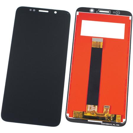 Модуль (дисплей + тачскрин) для Honor 7A (DUA-L22) черный (лого Honor)