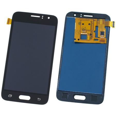 Модуль (дисплей + тачскрин) для Samsung Galaxy J1 (2016) (SM-J120F/DS) черный TFT (регулируемая подсветка)
