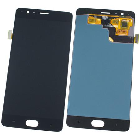 Модуль (дисплей + тачскрин) черный без рамки OnePlus 3