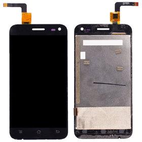 Модуль (дисплей + тачскрин) черный Micromax A79 Bolt